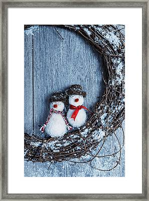 Winter Garland Framed Print by Amanda Elwell