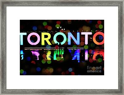Framed Print featuring the photograph Winter Ice Skating In Toronto by Charline Xia