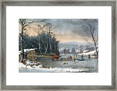 Winter In The Country Framed Print by George Durrie