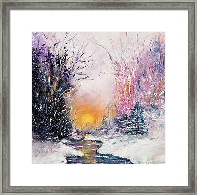 Winter Landscape Framed Print by Boyan Dimitrov