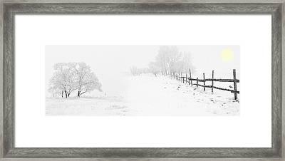 Winter Landscape - Let It Snow Framed Print by Celestial Images