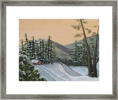 Winter Framed Print by Lessandra Grimley