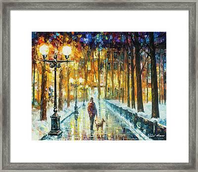 Winter Light  Framed Print by Leonid Afremov