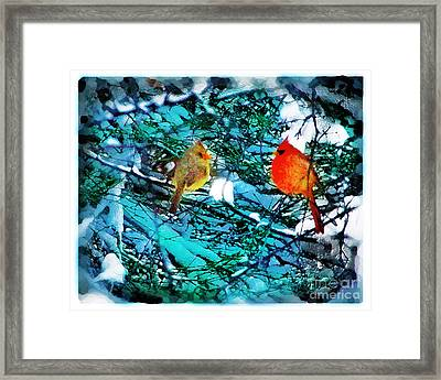Winter Love Framed Print by Gina Signore