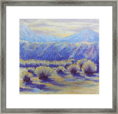 Winter Morning Riverbend Framed Print