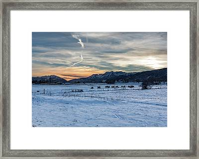 Winter Range Framed Print