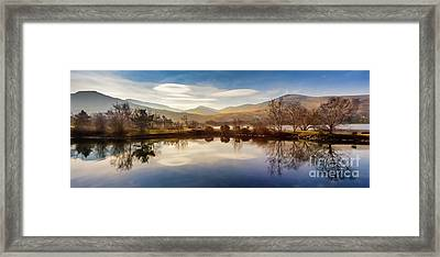 Winter Reflections Framed Print by Adrian Evans