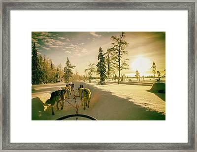 Winter Ride Framed Print by Andreas Dobeli