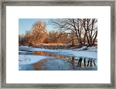 Winter River Framed Print
