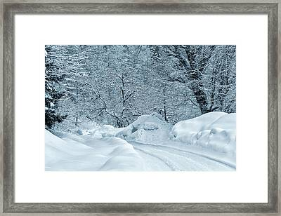 Winter Road Framed Print by Svetlana Sewell