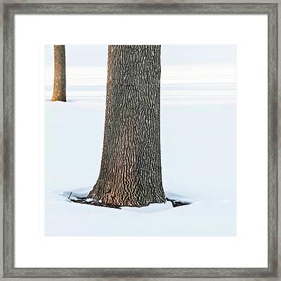 Winter Scene - Abstract Framed Print