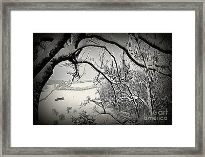 Winter Scene In Switzerland Framed Print by Susanne Van Hulst