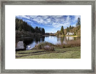 Winter Scenery In Scotland Framed Print by Jeremy Lavender Photography