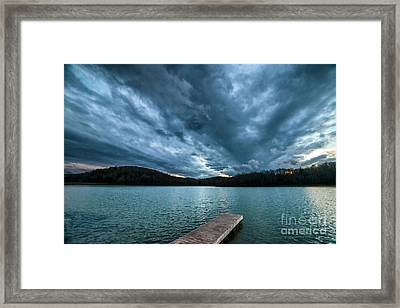 Framed Print featuring the photograph Winter Storm Clouds by Thomas R Fletcher