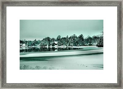 Winter Stream Framed Print by Rick Couper