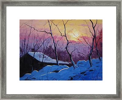 Winter Sunrise Framed Print by Graham Gercken