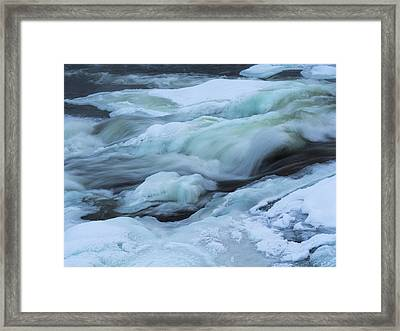 Winter Waterfall Framed Print by Tamara Sushko
