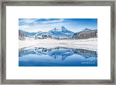 Winter Wonderland In The Alps Framed Print
