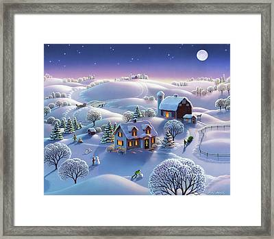 Winter Night  Framed Print by Robin Moline