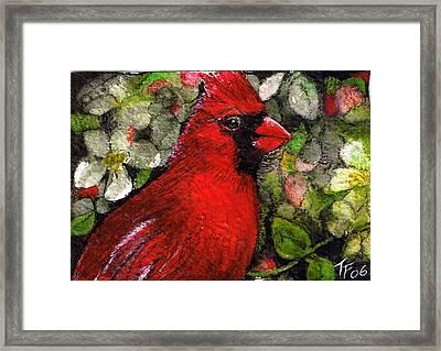 Winterbird Framed Print by Terri Kilpatrick