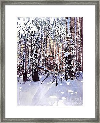 Wintertime Painting Framed Print