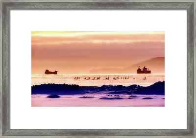 Wintry Kamchatka Russia Framed Print by Natalia Kollegova