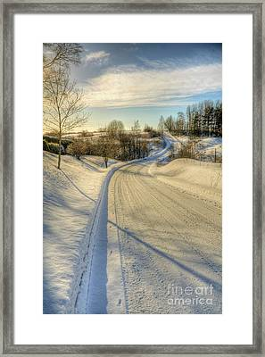 Wintry Road Framed Print