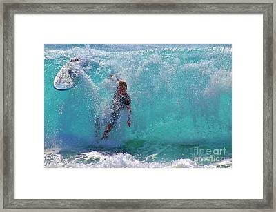 Wipe Out Framed Print by Craig Wood