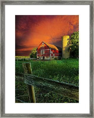 Wisconsin Life Framed Print by Phil Koch