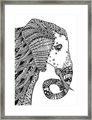 Wise Elephant Framed Print