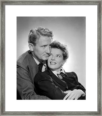 Without Love, Spencer Tracy, Katharine Framed Print