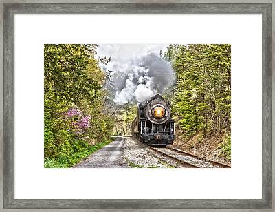 Wmsr Steam Engine 734  Framed Print