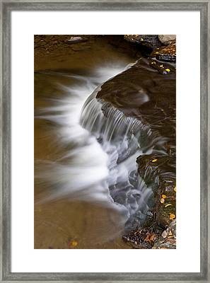 Wolf Creek At Letchworth State Park Framed Print