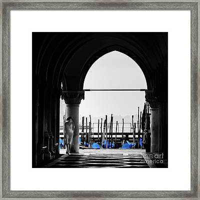 Woman At Doges Palace Framed Print