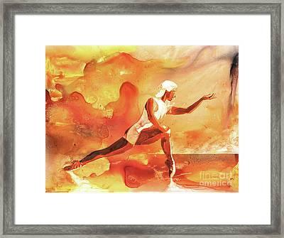 Woman Dancing Framed Print by Ryan Fox