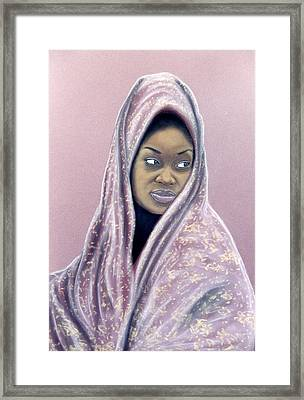 Framed Print featuring the pastel Woman Of The Dust by Jan Amiss