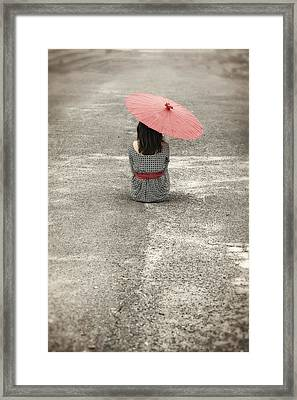 Woman On The Street Framed Print by Joana Kruse