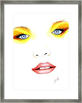 Woman Scent Watercolor Painting Framed Print
