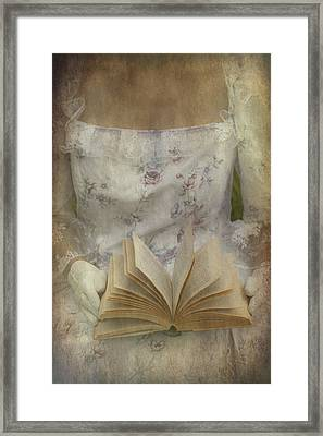 Woman With A Book Framed Print by Joana Kruse