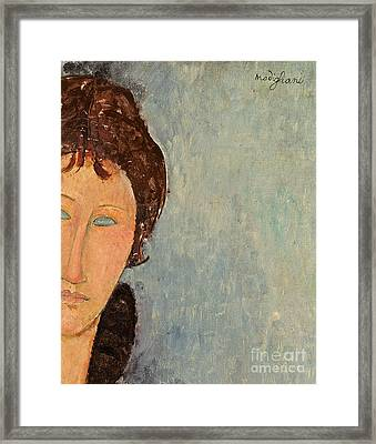 Woman With Blue Eyes Framed Print