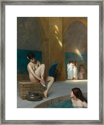 Women In Bath Framed Print