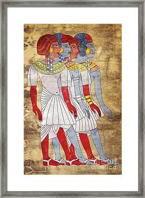 Women Of Ancient Egypt Framed Print by Michal Boubin