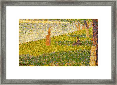 Women On The River Bank Framed Print