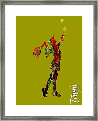 Womens Tennis Collection Framed Print by Marvin Blaine