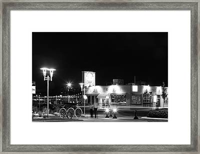 Wonder Bar At Night Framed Print