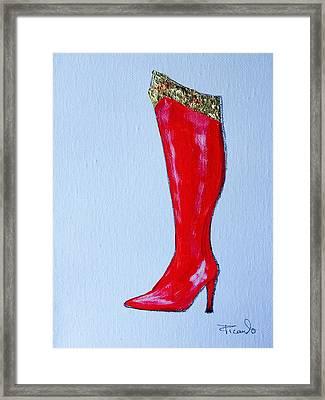 Wonder Woman's Boot Framed Print