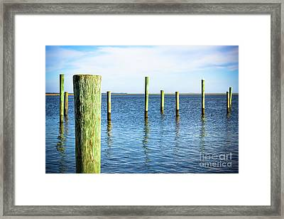 Framed Print featuring the photograph Wood Pilings by Colleen Kammerer