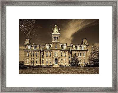 Woodburn Hall - West Virginia University Framed Print by L O C