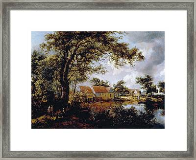 Wooded Landscape With A Water-mill Framed Print