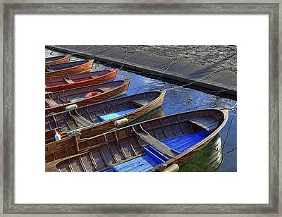 Wooden Boats Framed Print